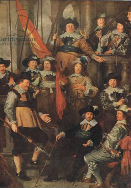 The company of the Civic Guard of Amsterdam 1645, Bibbys Annual, 1916-17 (colour litho)
