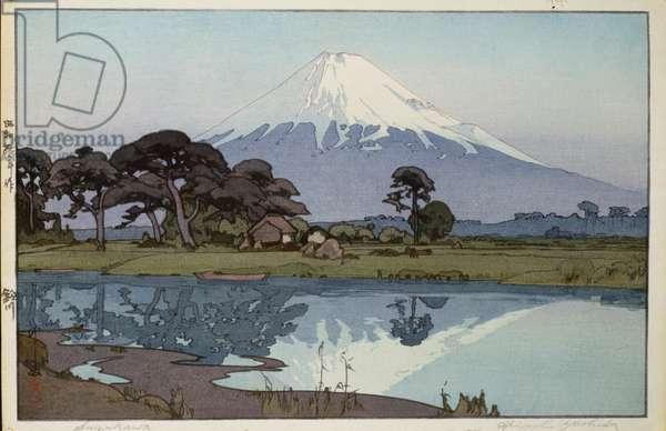 The lake at Suzakawa, (colour woodblock print)
