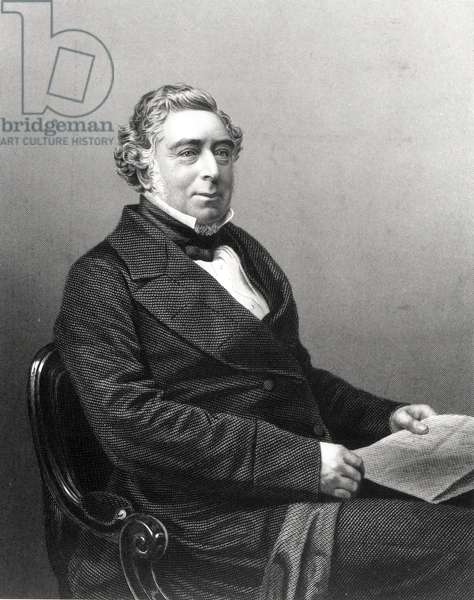 Portrait of Robert Stephenson (1803-59) (engraving) (b/w photo)