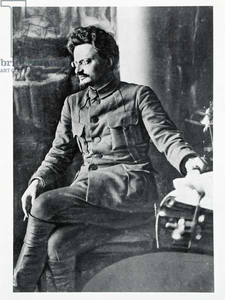 Portrait of Leon Trotsky (1879-1940), from 'The Illustrated London News', 16th October 1920 (b/w photo)