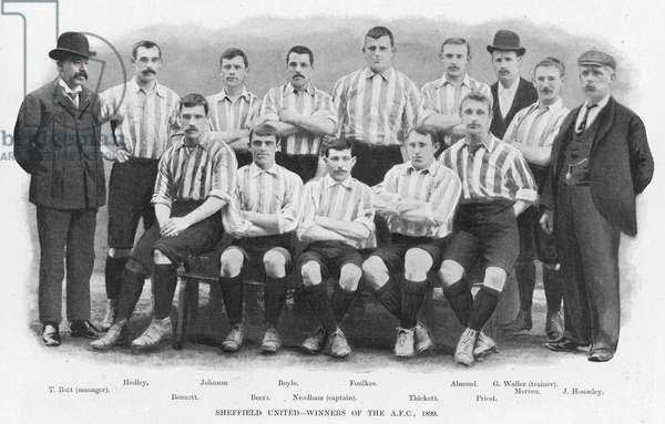 Sheffield United - Winners of the Association Football Cup, 1899 (b/w photo)