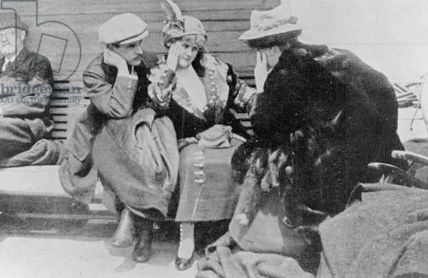 'Titanic' Survivors on the 'Carpathia', 1912 (b/w photo)