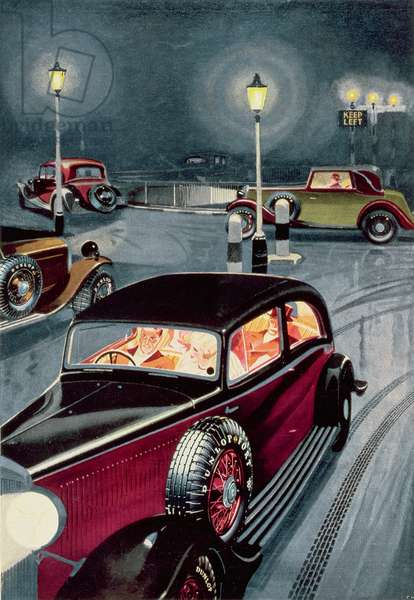 Advertisement for Dunlop Tyres, from 'The Illustrated London News', November 3rd 1934 (litho)
