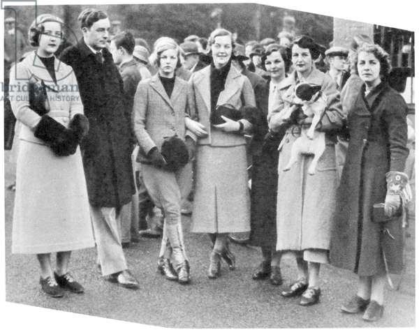 The Mitford family, from 'The Tatler', 9th January 1935 (b&w photo)