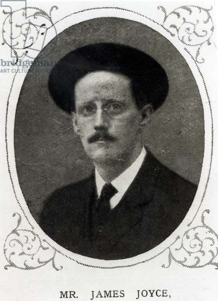 James Joyce (1882-1941) from 'The Illustrated London News', 1st August 1914 (b&w photo)