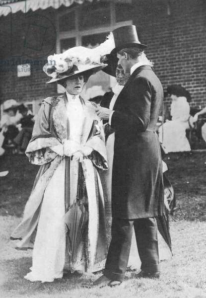 Alice Keppel and her husband George, 1909 (b/w photo)