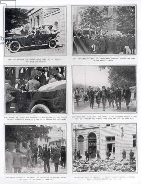 The Assassination of Archduke Franz Ferdinand of Austria (1863-1914) 1914 (b/w photo)