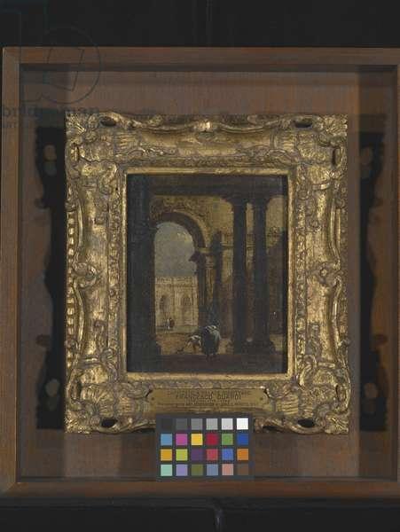 Capriccio: A Palace Courtyard (oil on canvas)