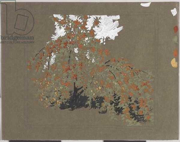 Apple Tree (tempera over graphite on paper)