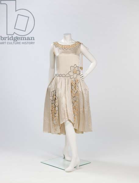 Wedding Dress (silk satin, silk velvet, metal & glass beads)