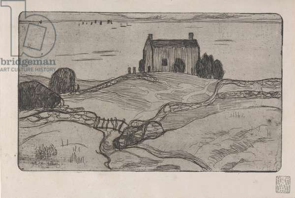 La Maison du Pendu (The House of the Hanged Man) 1893 (etching)