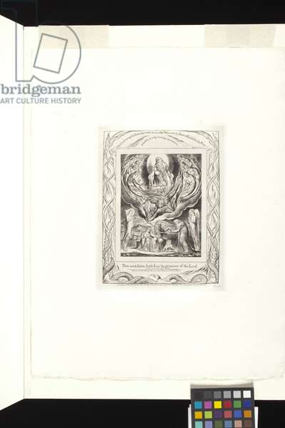 Then Went Satan Forth From The Presence Of The Lord (engraving on india paper chine collé)