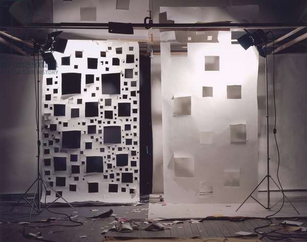 No. 592, Holes in White to Black and Holes in White to White (c-print mounted on aluminium)