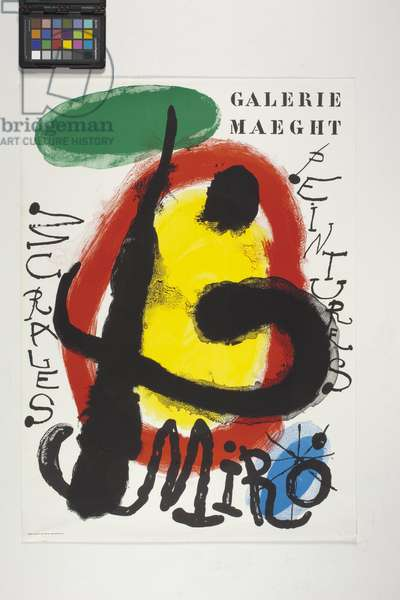 Poster for the Galerie Maeght, (colour lithograph)