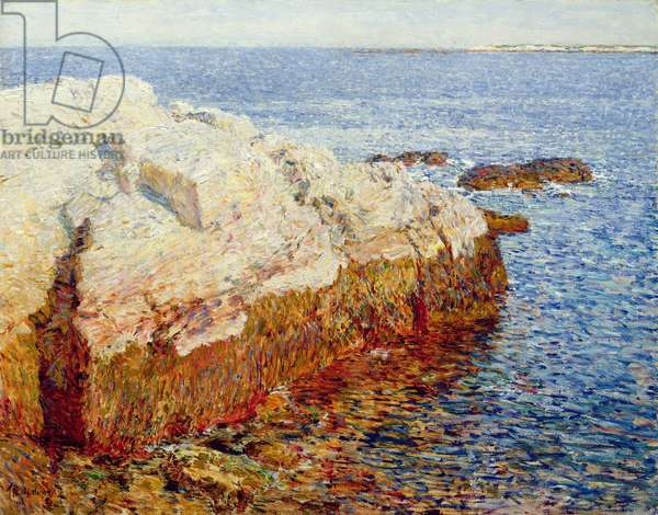 Cliff Rock, Appledore, 1903 (oil on canvas)