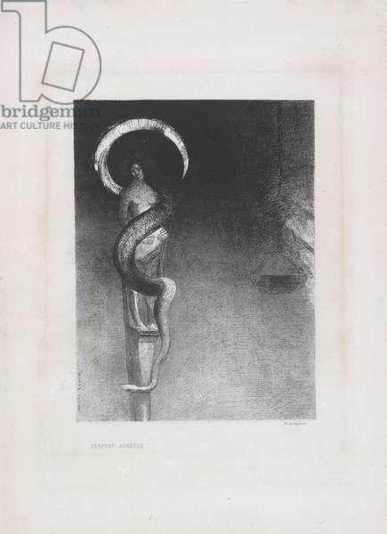 Serpent-Aureole, 1890 (litho on chine applique paper)