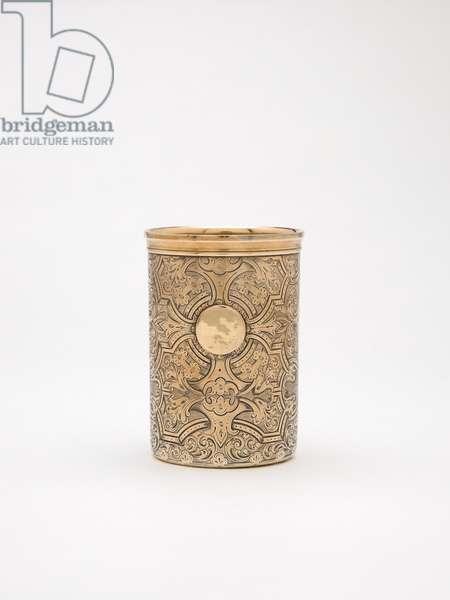 Beaker by Jane Brownett, c.1871 (silver-gilt)