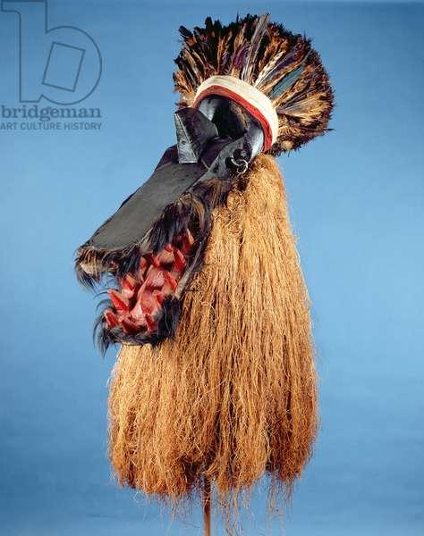 Helmet mask for mens' (Poro) ritual organisation, Toma Tribe, c.1900-50 (mixed media)