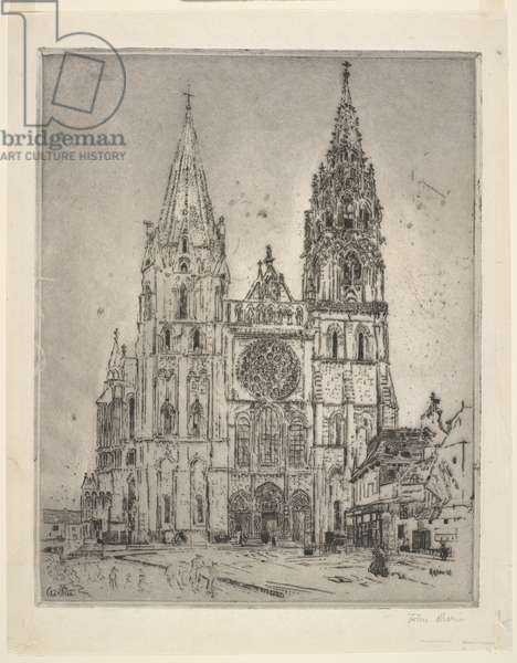 Chartres Cathedral, 1910 (etching)