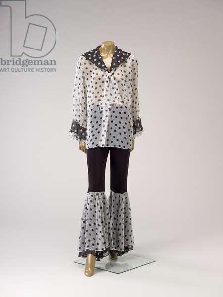 Ensemble, 1980s (polyester chiffon, polyester or rayon)