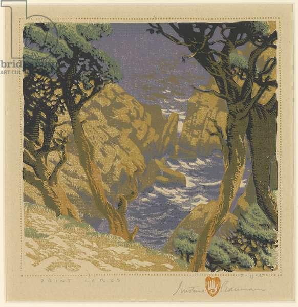 Point Lobos, c.1934 (colour woodblock print)