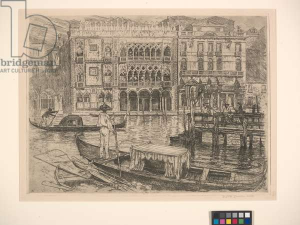Ca D'oro, Venice, 1883 (etching)