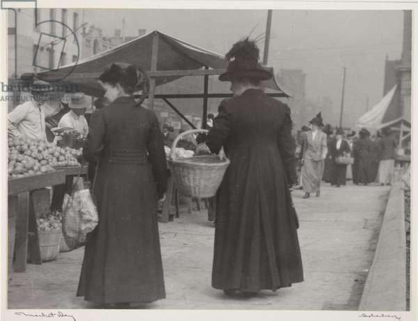 Market Day, 1902 (b/w photo)