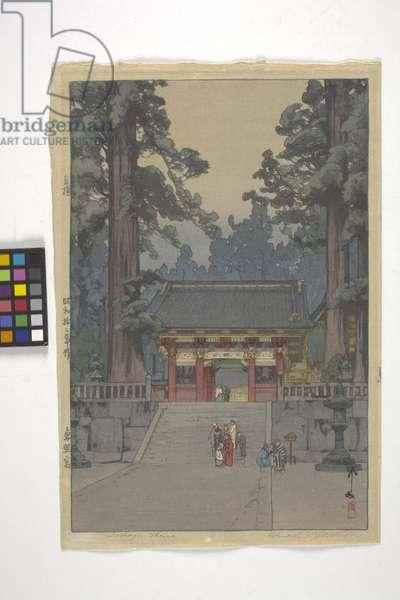 Toshogu Shrine (colour woodcut)