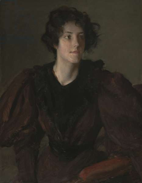 Study of a Young Woman, c.1880-85 (oil on canvas)