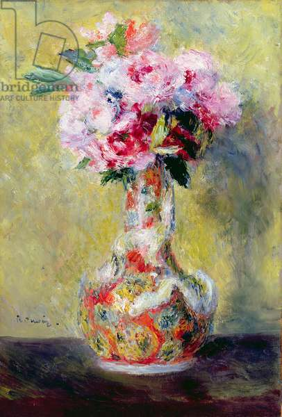 Bouquet in a Vase, 1878 (oil on canvas)