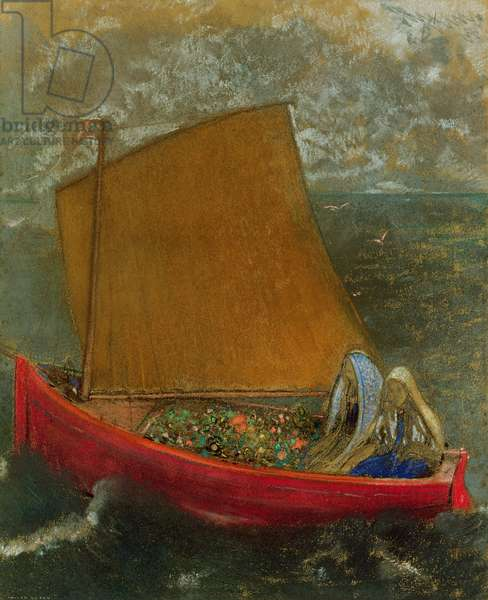 The Yellow Sail, c.1905 (pastel on paper)