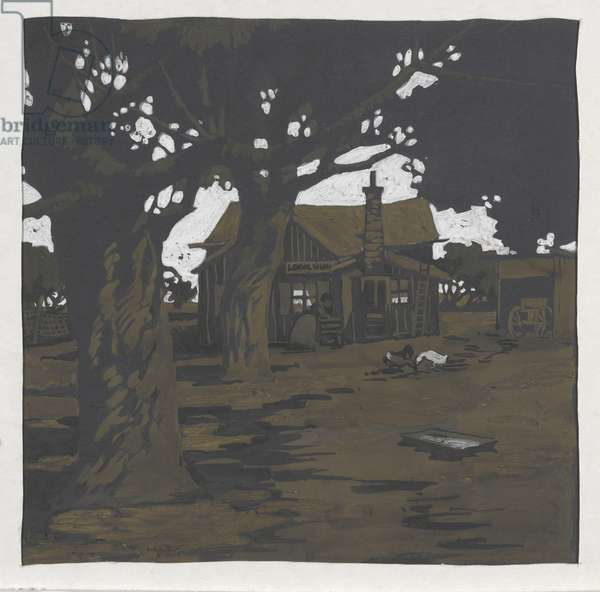 Study for Fishing Hut on the North Shore, 1907 (gouache over graphite on paper)