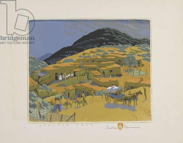 Atalaya Peak, 1926 (colour woodblock print on paper)