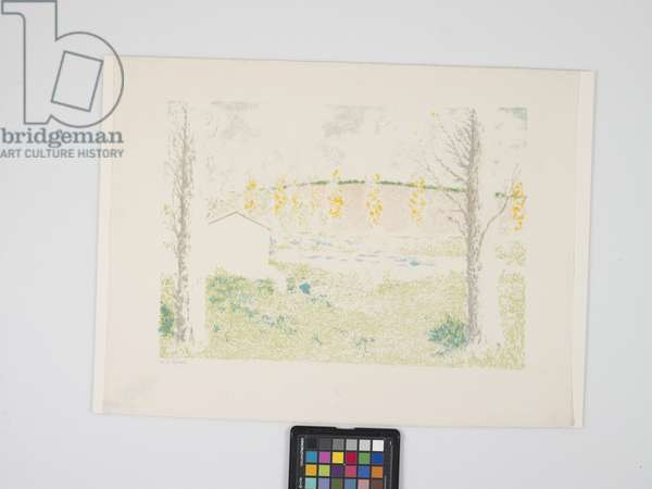 Paysage Avec Maison (Landscape With House) (colour lithograph)