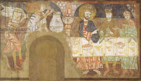 The Marriage at Cana, c.1150 (fresco mounted on canvas)
