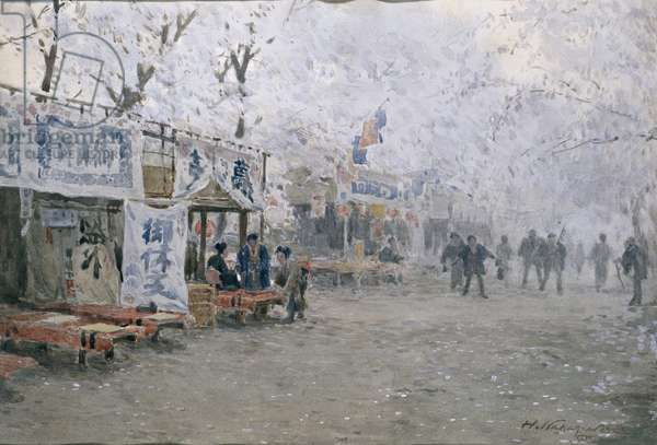 Cherry Blossom Festival, c.1903 (w/c on off-white paper)
