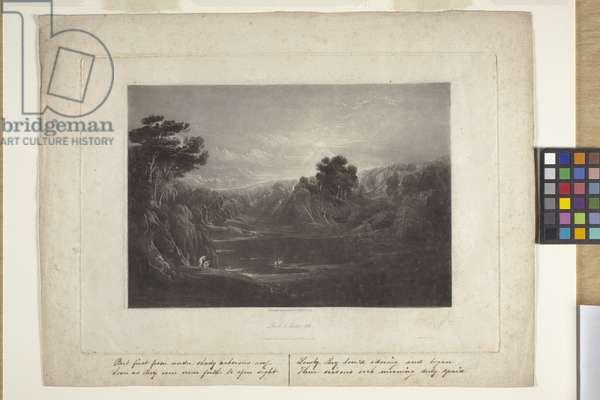 Paradise--Adam And Eve--The Morning Hymn (mezzotint)