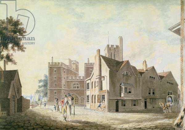 A View of the Archbishop's Palace, Lambeth, 1790 (w/c on white paper)