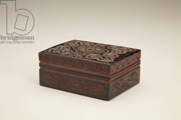 Box and cover (lacquer)