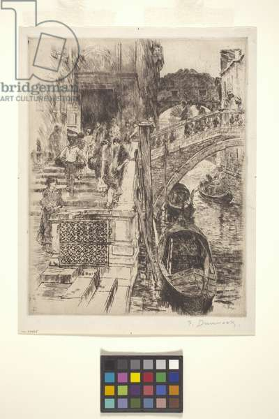 Bridge Of Sighs, Venice (Plate 1) (ink)
