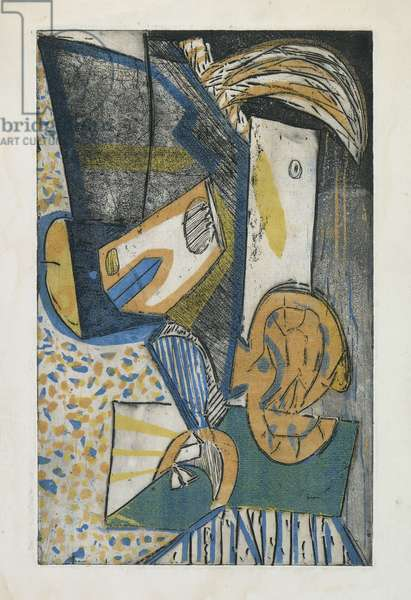 Percussion Head, c.1949 (colour etching & engraving)