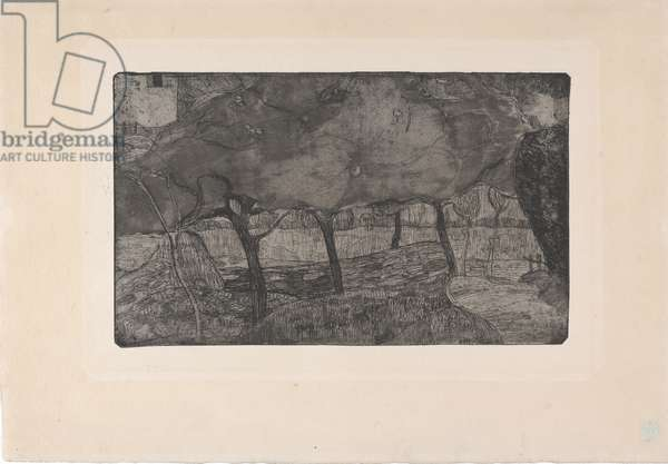 Les Pommiers (The Apple Trees) 1893 (etching, aquatint & drypoint)