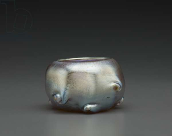 Salt Cellar (iridescent favrile blown glass)