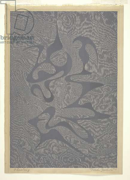 Floating, 1957 (colour woodblock print)