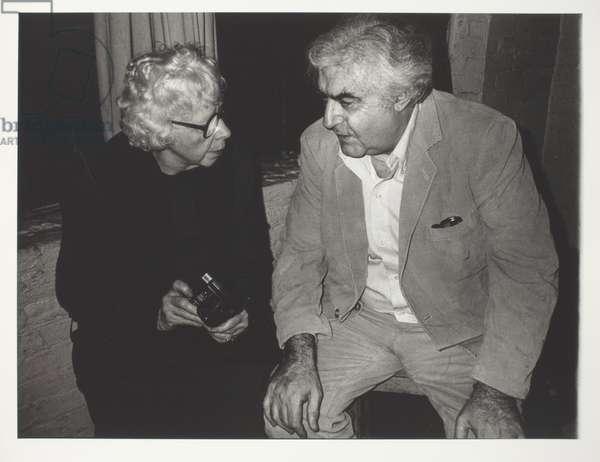 Lisette Model Talking to Cornell Capa, 1975-1979 (gelatin silver print)