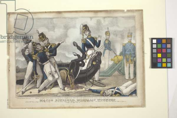 Major Ringgold, Mortally Wounded (hand-coloured lithograph)