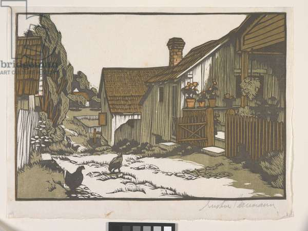 Mathis Alley (colour woodblock print)
