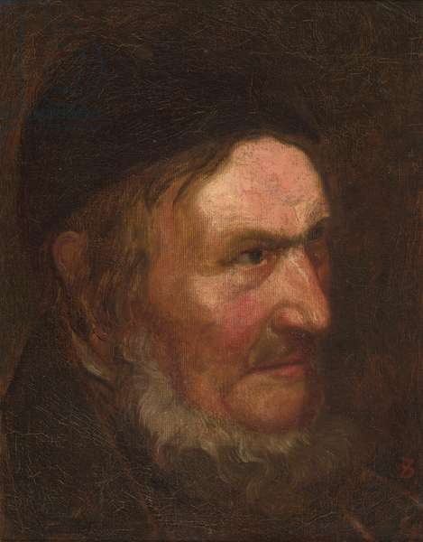Portrait of Squire Duveneck, 1875-1880 (oil on canvas mounted to Plexiglas)