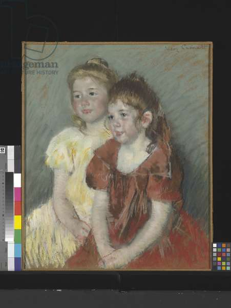 Young Girls (pastel on paper)