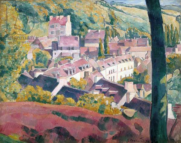 Pont-Aven Seen From The Bois D'Amour (oil on canvas)